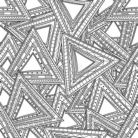 triangle pattern coloring page seamless black and white pattern of triangles coloring