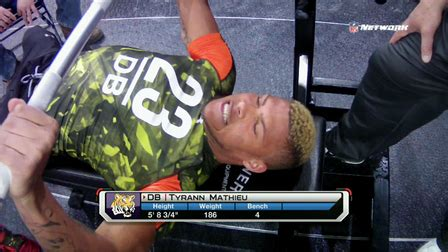 best bench press in nfl tyrann mathieu bench press nfl videos