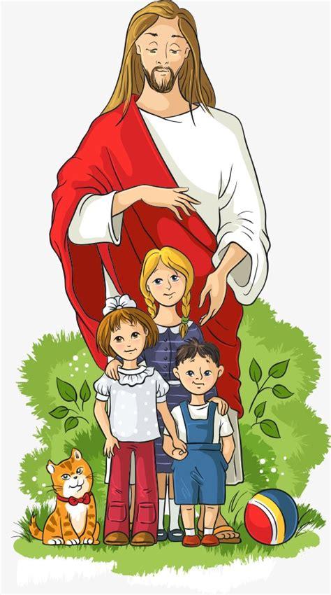 imagenes de jesus animado vector jes 250 s y los ni 241 os ni 241 o jesus los ni 241 os de