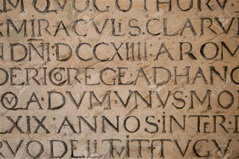 tattoo inscriptions latin old medieval latin inscription carved in stone stock photo