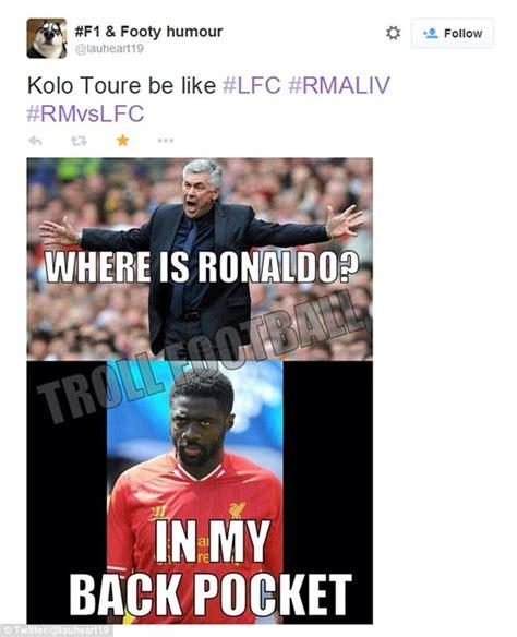 Kolo Toure Memes - berhasil jinakkan cr7 dan james rodriguez kolo toure jadi
