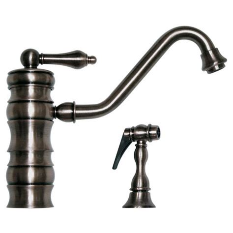 whitehaus vintage iii single kitchen faucet w side