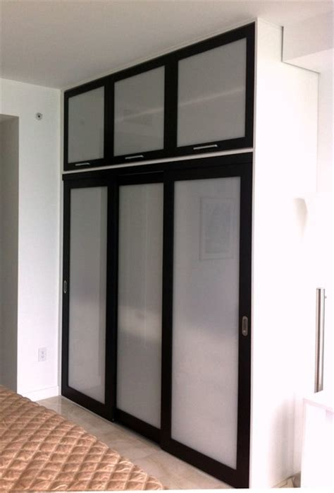 California Closets Sliding Doors Sliding Doors Wenge Opal Resin Insert Contemporary Closet Miami By California Closets Miami