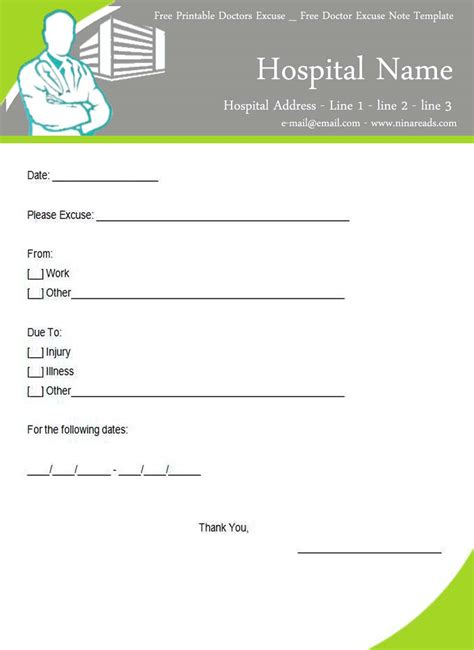 Excuse Letter Of Stomach Ache Photos Of Patient Template Printable Certificate Sle