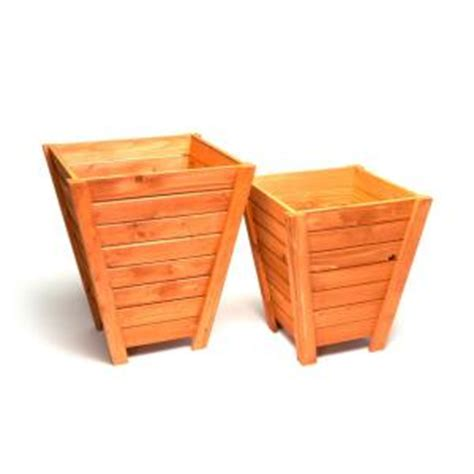 home depot wooden planters devault wooden planter set of 2 devbp233 the home depot
