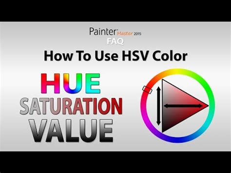 how to use the hsv color picker corel painter faq
