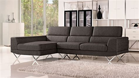 zuri furniture grey trago fabric sectional sofa zuri furniture
