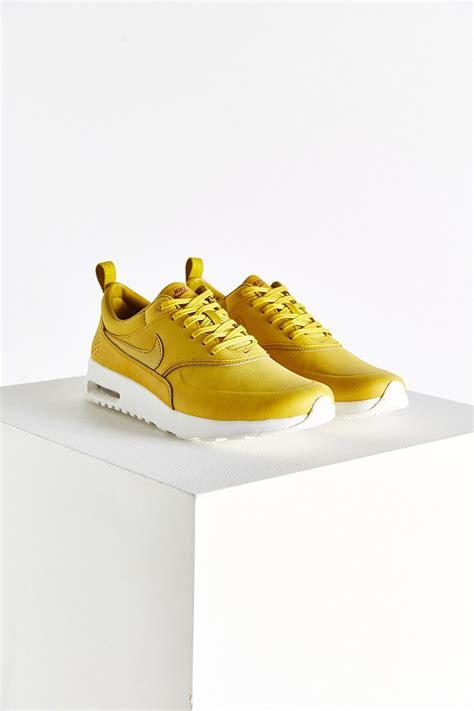 nike air max thea premium sneaker nike air max thea premium sneaker in yellow lyst