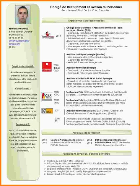 what is curriculum vitae example 6 cv assistant rh exemple lettre
