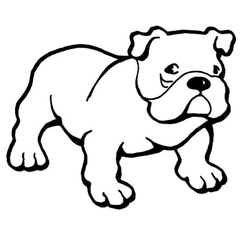 bulldog coloring page | free printable coloring pages
