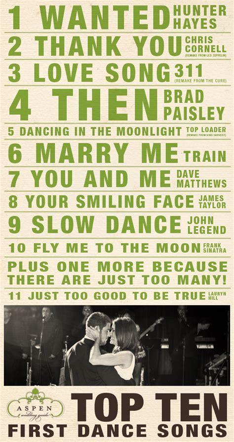 Top Ten First Dance Songs   Aspen Wedding Guide