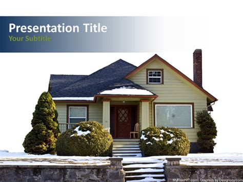 house powerpoint template free winter house powerpoint template free