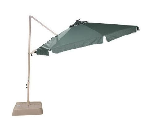 Southern Patio Umbrellas Southern Patio 10 Offset Umbrella W 21 Solar Lights M13820 Qvc