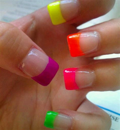 colorful nail colorful nail tips nails the o