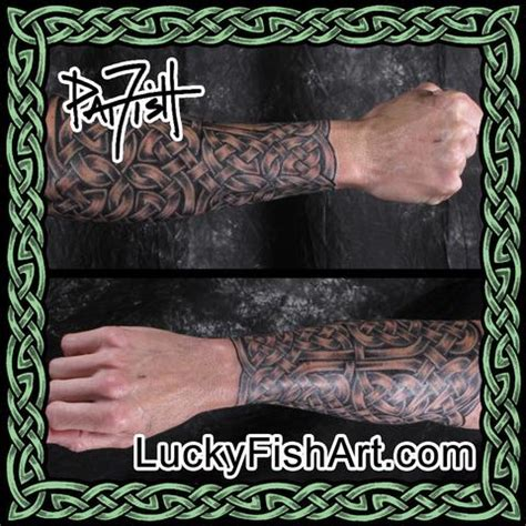 celtic sleeve tattoos luckyfish art