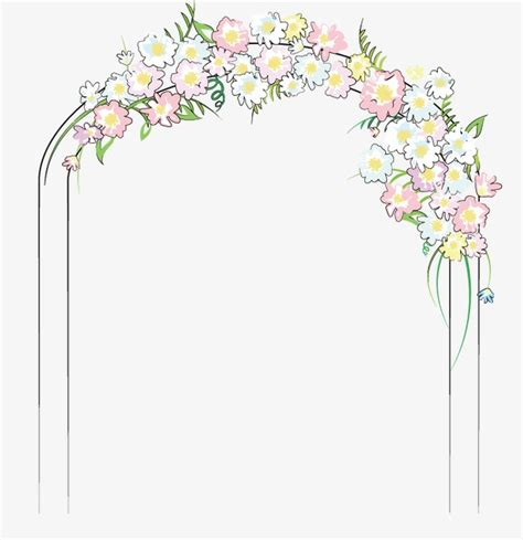 Wedding Gate Background by Wedding Flower Door Wedding Vector Flower Vector Door