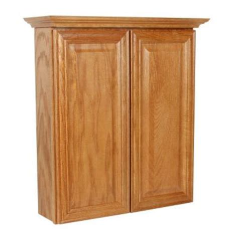Oak Bathroom Cabinets Storage Masterbath Raised Panel 24 In W Bath Storage Cabinet In Medium Oak Mbtt Mo The Home Depot