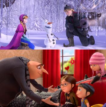 film frozen nikah frozen kalahkan despicable me 2 raih film animasi