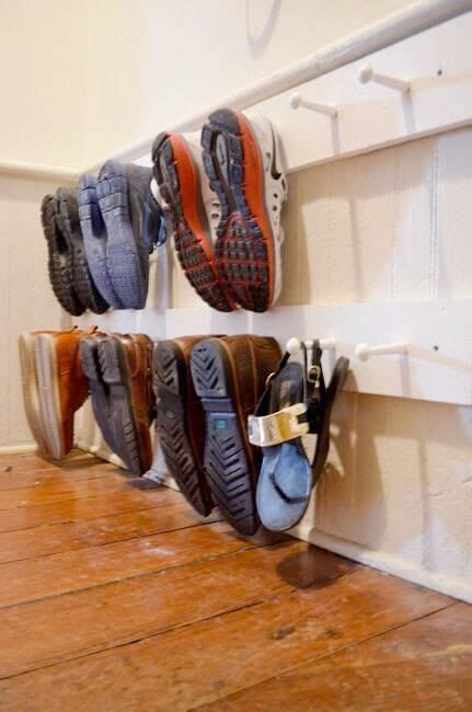 diy hanging shoe rack best 25 entryway closet ideas on closet bench