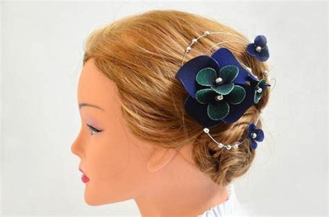 Wedding Hair Accessories Navy by Navy Blue Fascinator Wedding Black Fascinator Black