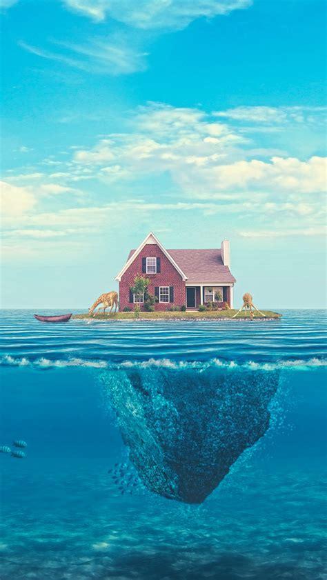 house   ocean iphone se wallpaper  iphone