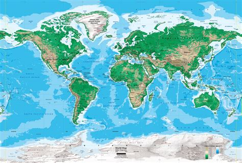 topographic map of the world world map topographic