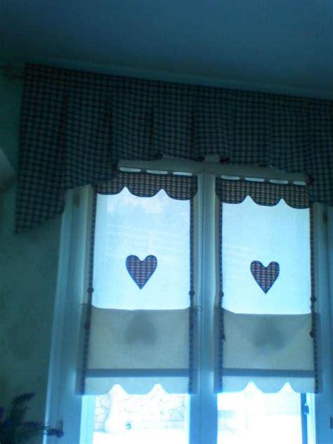 tenda da ceggio in inglese tendina country con mantovana a tema cuore shabby