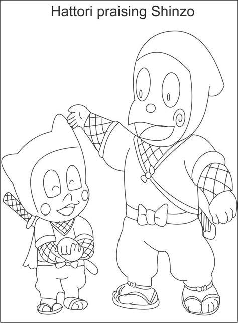 hattori praising shinzo coloring page  kids