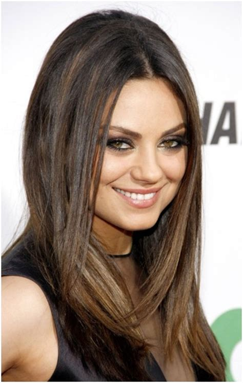hairstyles for straight hair medium medium straight hairstyles trends mila kunis hair