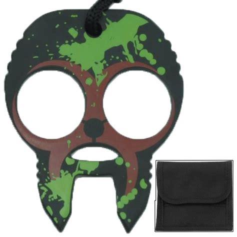 zombie skull 2 finger knuckle clobbering skull 2 finger self defense knuckles brown