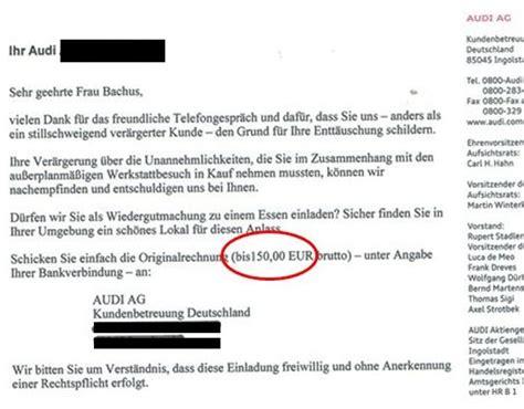 Kommentar Schreiben Muster Wohnideen Wandgestaltung Maler Bravour 246 Ses Service Beispiel Ein Anruf Der Audi Ag