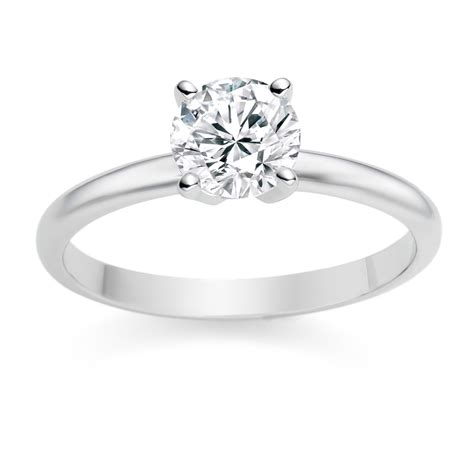 Engagement Rings For by Platinum Engagement Ring With 0 7ct I Si1