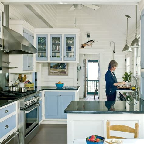 Coastal Cottage Kitchen Design Subtle Themed Kitchen 20 Beautiful Cottages Coastal Living