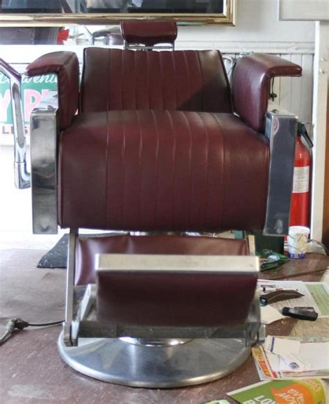 1950 Barber Chairs Sale by Pr Belmont Leather Chrome 1950s Reclining Barber Shop Chairs Industrial Ebay