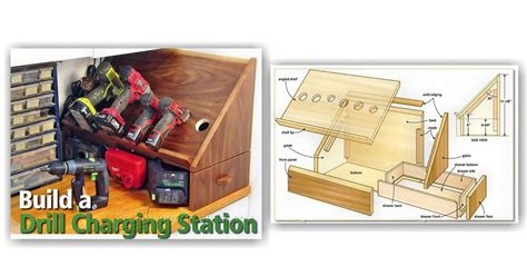 cordless drill charging station plans woodarchivist