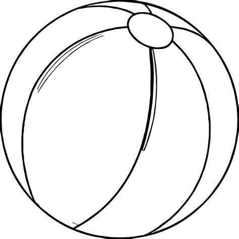 coloring page for ball summer beach ball coloring page wecoloringpage