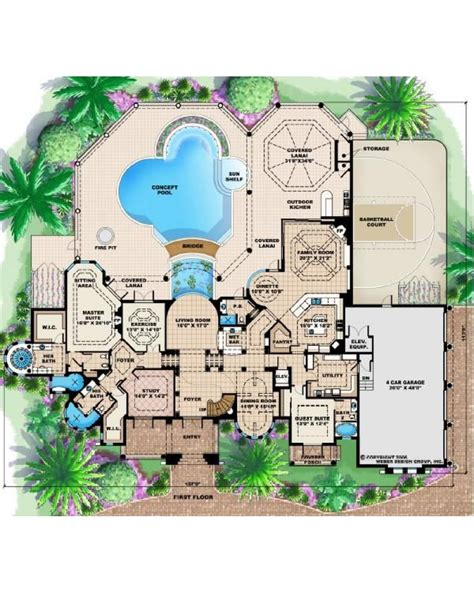 Cape Cod Plans by Amazingplans Com House Plan F2 6295 Mar A Lago Luxury Spanish Mediterranean