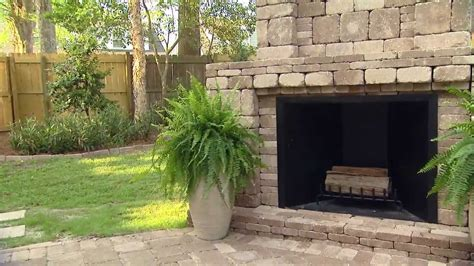 pavestone outdoor fireplace today s homeowner featuring rumblestone