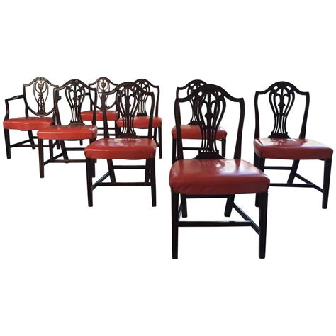 Hepplewhite Dining Chairs Hepplewhite Dining Chairs Set Of 8 At 1stdibs