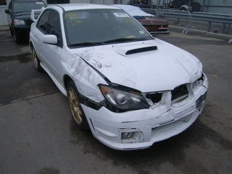 crashed subaru wrx buy used 2006 subaru impreza wrx sti clean title damaged