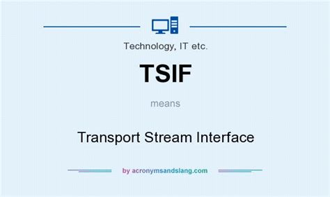 what does tsi stand for tsif transport interface in technology it etc