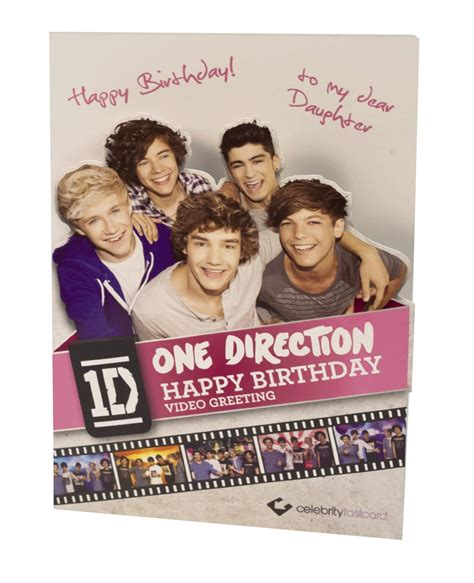 One Direction Happy Birthday Card One Direction Happy Birthday Daughter Video Greeting Card