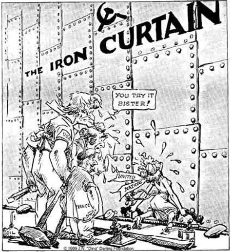 how was the iron curtain a dividing line iron curtain speech winston churchill history