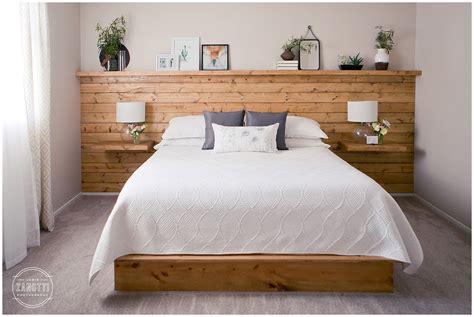 shiplap headboard shiplap headboard wall with floating nightstand shelves