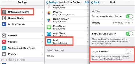 hide message preview iphone hide email previews from the lock screen of iphone ipod touch
