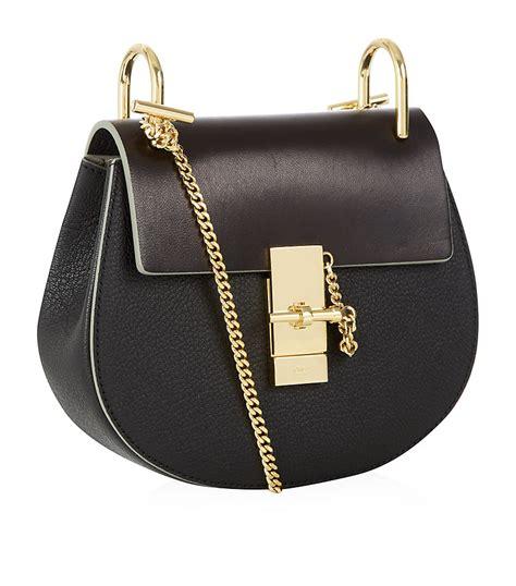 chlo 233 small drew shoulder bag in black lyst