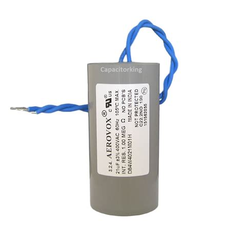 average capacitor lifespan aerovox lighting capacitor 21uf 400 volt pulse start metal halide d84w4021m01h
