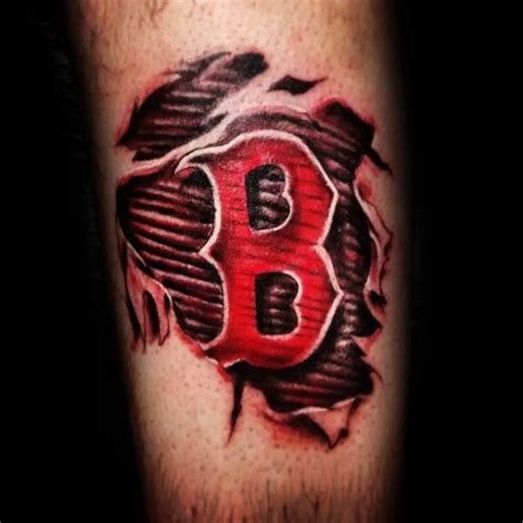 red sox tattoos designs ripped skin boston sox tattoos golfian