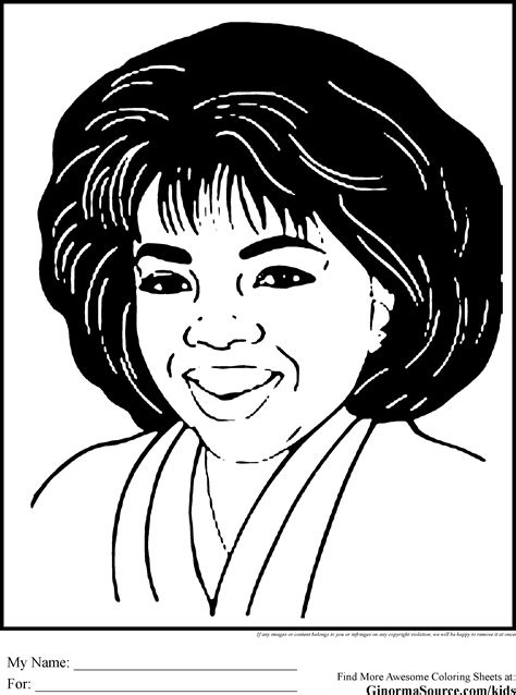 black history coloring pages oprah print now pinterest