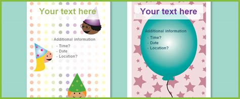 design an invitation ks1 editable party posters free early years primary
